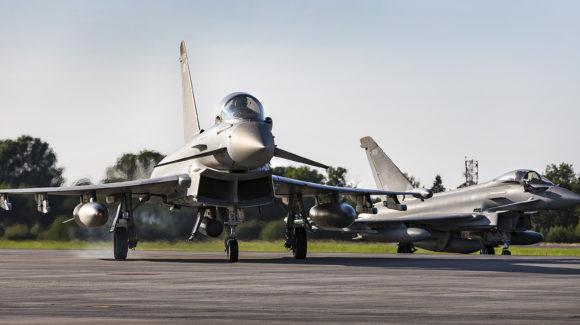 Royal Air Force Typhoons begin training mission in Estonia