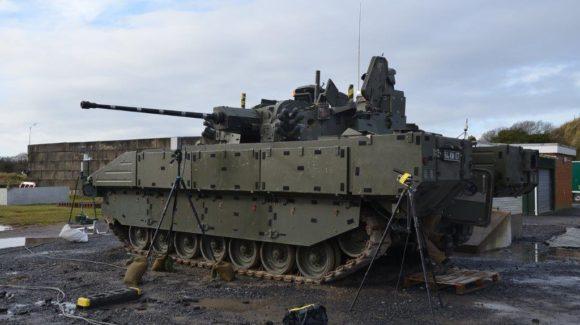 British Army showcase AJAX firing skills at MoD Pendine