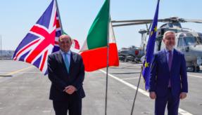 Defence Secretary meets with NATO allies on board HMS Queen Elizabeth